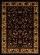 Royalty Fancy Scroll Area Rug 8x11 (Brown)