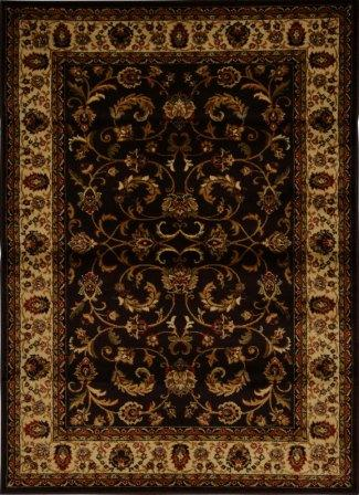 Royalty Fancy Scroll Area Rug (Chocolate & Ivory)