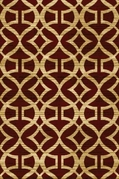 Royalty Interlocking Abstract Area Rug (Red)