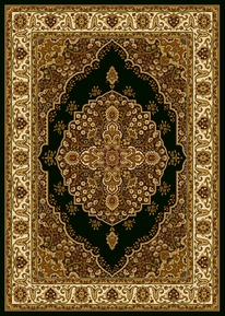 Royalty Modern Floral Area Rug (Black)