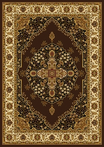 Royalty Modern Floral Area Rug (Brown)