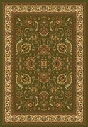 Royalty Modern Floral Area Rug (Green)