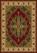 Royalty Modern Floral Area Rug (Red)