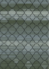 Royalty Modern Tiled Area Rug (Grey)