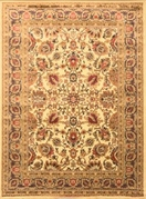 Royalty Traditional Floral Area Rug (Ivory)