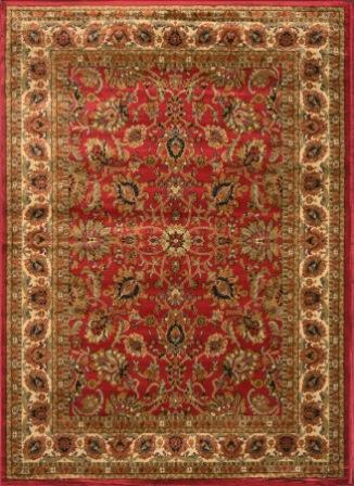 Royalty Traditional Floral Area Rug (Red)