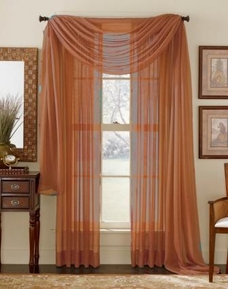 Rust Sheer Curtain Scarf  [Available June 22nd]