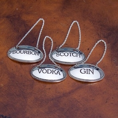 Set of 4 Oval Liquor Labels