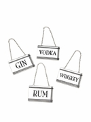 Set of 4 Rectangular Liquor Labels
