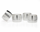 Set of 4 Ribbed Napkin Rings