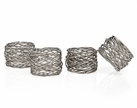 Set of 4 Round Mesh Napkin Rings