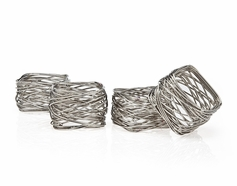 Set of 4 Square Mesh Napkin Rings