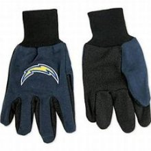 San Diego Chargers Two Tone Gloves