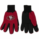 San Francisco 49ers Two Tone Gloves