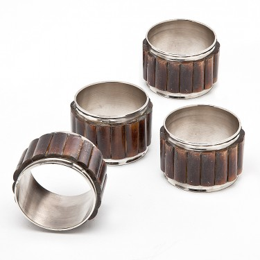 Set of 4 Bamboo Napkin Rings