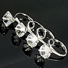Set of 4 Diamond Ring Napkin Rings