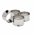 Set of 4 Hammered Concave Napkin Rings