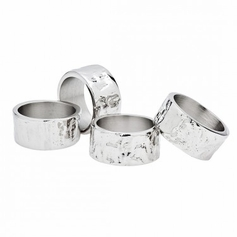 Set of 4 Lava Napkin Rings