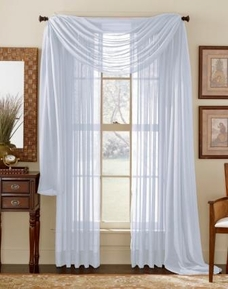 Silver Grey Sheer Curtain scarf