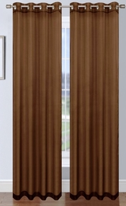 Platinum Sheer Voile Curtain with Grommets (Chocolate Brown)