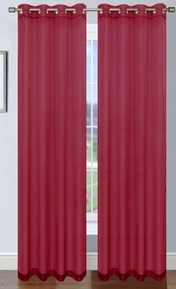 Sheer Voile Curtain with Grommets (Burgundy)