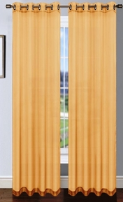 Platinum Sheer Voile Curtain with Grommets (Gold)