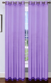 Platinum Sheer Voile Curtain with Grommets (Lilac)