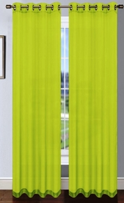 Platinum Sheer Voile Curtain with Grommets (Lime Green)