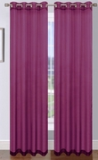 Platinum Sheer Voile Curtain with Grommets (Plum)
