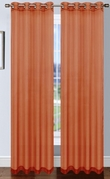 Platinum Sheer Voile Curtain with Grommets (Rust Orange)