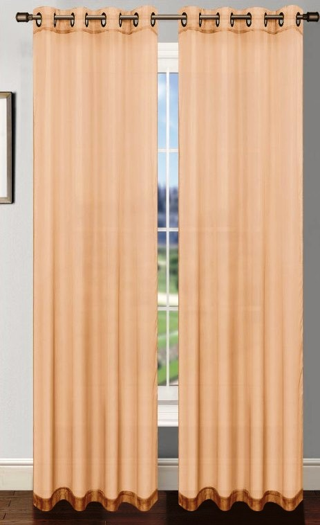 Platinum Sheer Voile Curtain with Grommets (Taupe)