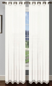 Platinum Sheer Voile Curtain with Grommets (White)