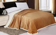Sherpa Lined Blanket (Mocha Brown)
