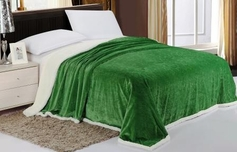 Sherpa Lined Blanket (Green)