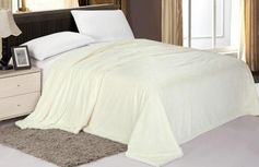 Sherpa Lined Blanket (Ivory)