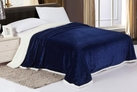 Sherpa Lined Blanket (Navy Blue)