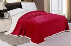 Sherpa Lined Blanket (Scarlet Red)