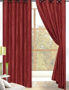 Sherry Crushed Satin Curtain (Cabernet Burgundy)