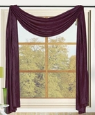 Sherry Crushed Satin Curtain Scarf (Purple)
