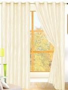 Sherry Crushed Satin Curtain (Soft Beige)