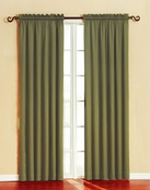 Silk Wood/Granada Blackout Panel (Sage)