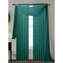 Grey teal slate sheer curtain scarf available june 22nd