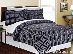 Solid Center Geometric Complete Bed in a Bag Set