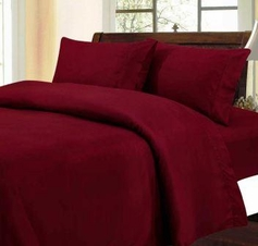 Solid Color Sheet Set (Burgundy)