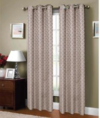 Sonata Jacquard Printed Curtain (Brown)
