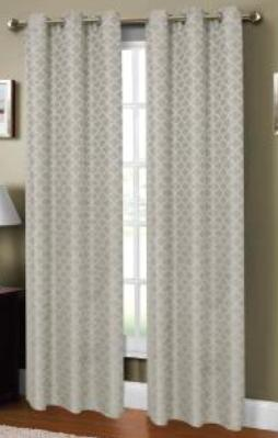 Sonata Jacquard Printed Curtain (Grey)
