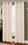 Sonata Jacquard Printed Curtain (Natural)