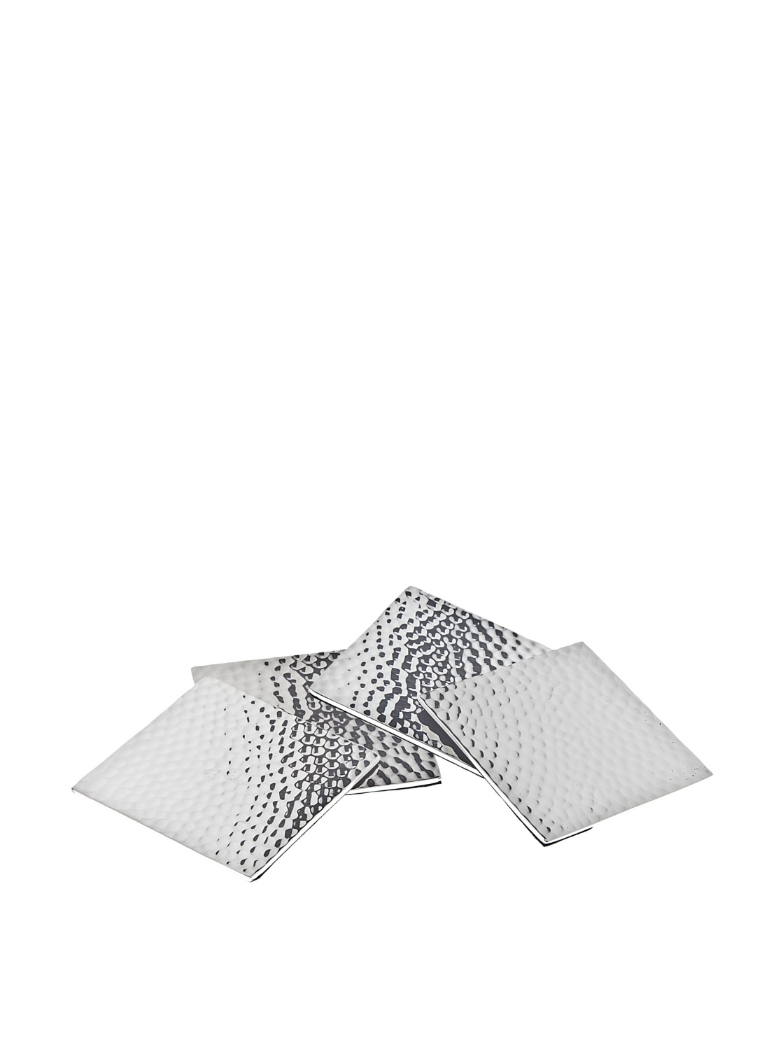 Set of 4 Square Hammered Coasters