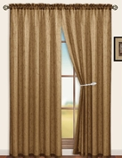 Sterling Rod Pocket Curtain Panel (Brown)