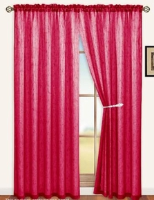 Sterling Rod Pocket Curtain Panel (Burgundy)